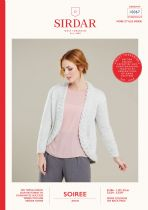 Sirdar Soiree Aran Knitting Pattern Booklet - 100067 Cable Edge Jacket
